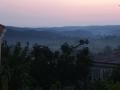 Sonnenuntergang hinter dem Haus